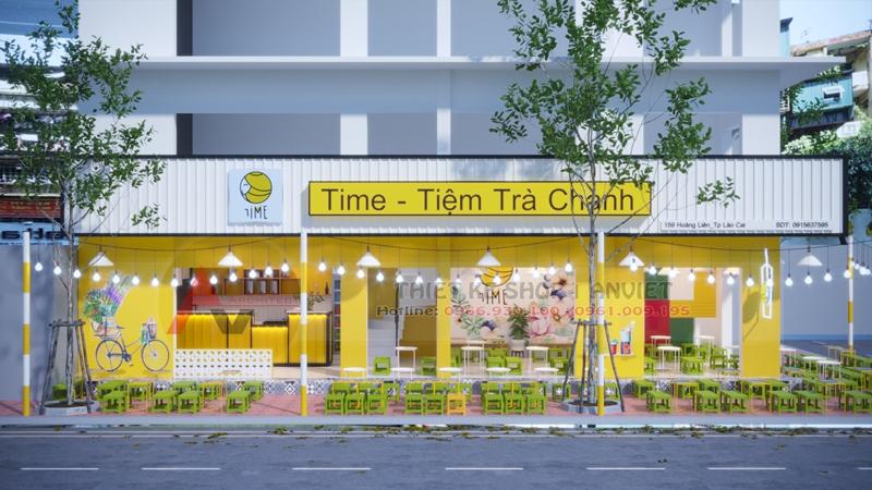 Thiết kế thi công quán trà chanh đá tại Vinh Nghệ An