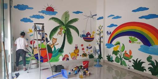 Vẽ tranh tường tại TP Vinh Nghệ An